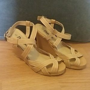 Shoes - Nude Strappy Wedges